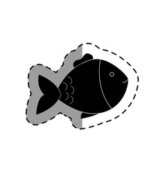 Cute fish pet isolated icon vector
