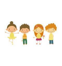 cute little children kids different vector image