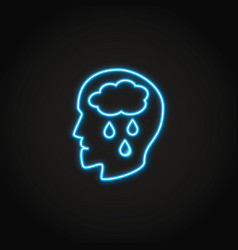 Depression concept neon icon in line style vector