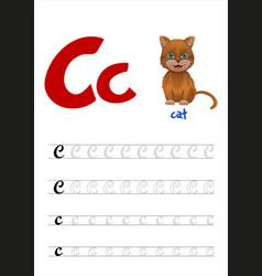 Design page layout english alphabet vector