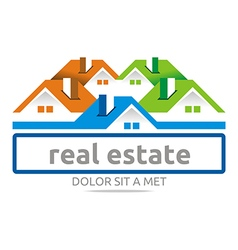 Design real estate buiding architecture house vector