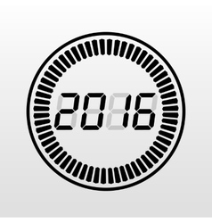 Digital year time art vector
