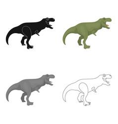 Dinosaur tyrannosaurus icon in cartoon style vector