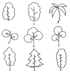 Doodle of simple tree hand draw vector
