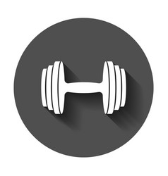 dumbbell fitness gym in flat style barbell with vector image