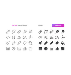 Edit text ui pixel perfect well-crafted vector