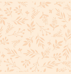 foliage seamless background beige vector image