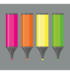 Four highlighters vector