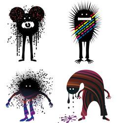 Four strange people vector