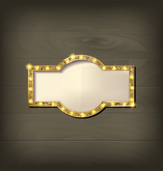 Frame cinema retro light sign vector