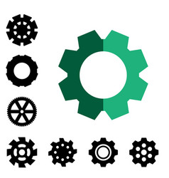 Gear or cog icon vector