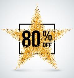 Golden star discount vector image