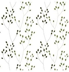 Green Romantic Weeds vector image vector image