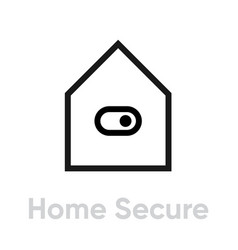home secure icon editable outline vector image
