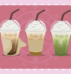 Ice coffee vector image