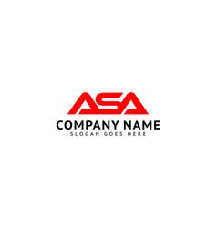 Initial letter asa logo template design vector
