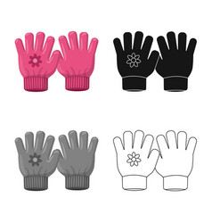 Isolated object of glove and winter symbol vector