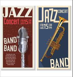 jazz concert banner 2 vector image