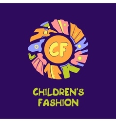 Logo for child fashion Template for vector