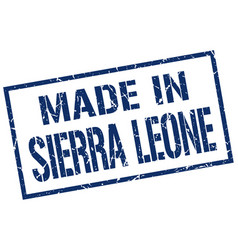 Made in sierra leone stamp vector