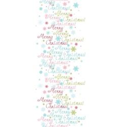 Merry Christmas Text Vertical Border Seamless Vector