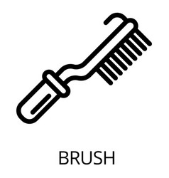 metal brush icon outline style vector image
