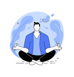 Mindfulness abstract concept vector
