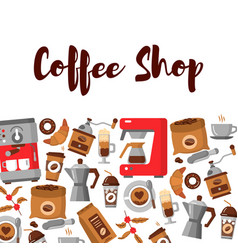 modern poster with coffee background vector image