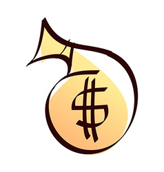 Money pocket vector