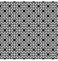 Monochrome cross seamless pattern blackwhite vector