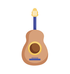 musical guitar instrument icon white background vector image