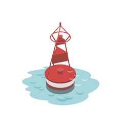 Navigational buoy isometric 3d element vector