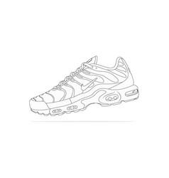 Nike air max plus tn sneakers vector