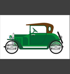 old car or vintage retro collector green auto vector image