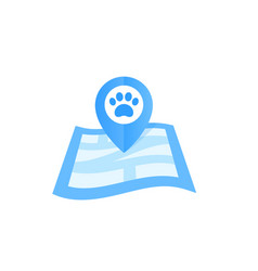 pet location icon vector image