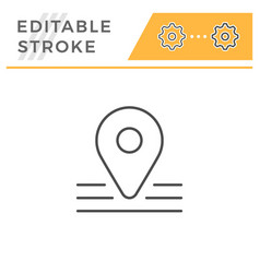 pointer editable stroke line icon vector image