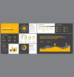 presentation templates elements vector image