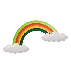 rainbow cloud on white background vector image