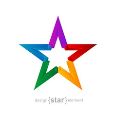 rainbow Star Abstract design element on white vector image