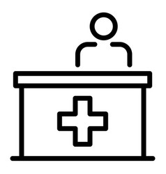 Reception at vet icon outline style vector