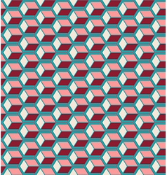 Red cubes seamless pattern vector image