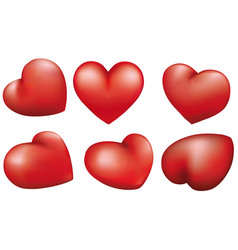 red heart isolated on white background design vector image