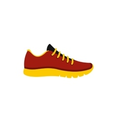 Red sneaker icon flat style vector