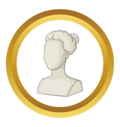 Sculpture head of woman icon vector image