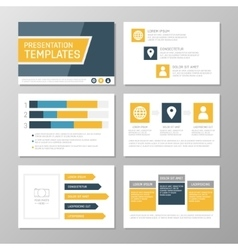 Set of blue and orange template for multipurpose vector image