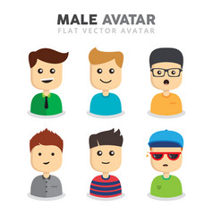 set of male avatars vector image