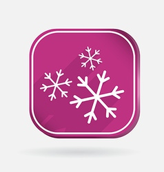 Snowflake Color square icon vector