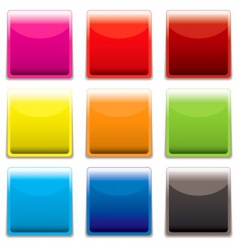 square plastic web icon vector image