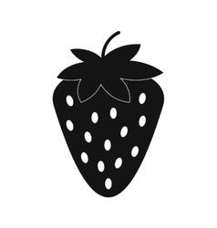 Strawberry simple icon vector