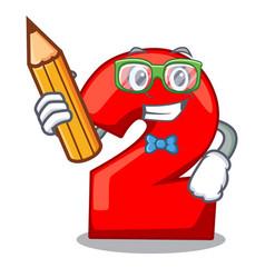 Student character number two on wooden door vector